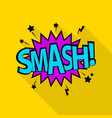 smash icon pop art style vector image vector image
