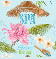 Spa seamless pattern vector image vector image