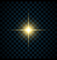 sparkle gold star isolated transparent background vector image vector image