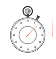 stopwatch dial and arrow on white background vector image