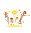 summer time young family on vacation vector image