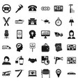 taxi work icons set simple style vector image vector image
