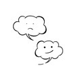 two white emotional icon isolated sad and vector image