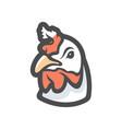 wihen chicken head icon cartoon vector image vector image