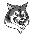Wolf mascot team label design vector image vector image
