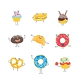 Cartoon Bakery Characters Set vector image
