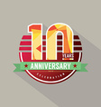 10 Years Anniversary Celebration Design vector image vector image