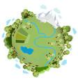 a green planet vector image vector image