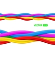 Abstract colorful curly wires vector image