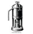 antique engraving espresso maker black and vector image vector image