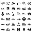 automobile icons set simple style vector image vector image