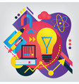 back to school concept physics vector image vector image