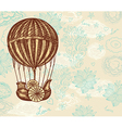 Balloon transport background vector | Price: 1 Credit (USD $1)