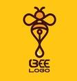 BEE LOGO 6 vector image