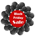 black friday sale concept with black balloons vector image vector image
