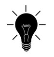 black light lamp icon isolated on vector image vector image