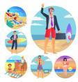business summer collection vector image