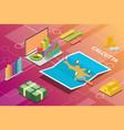 calcutta india city isometric financial economy vector image vector image