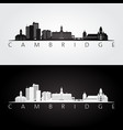 cambridge massachusetts skyline and landmarks vector image vector image