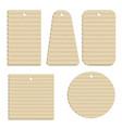 cardboard tags vector image