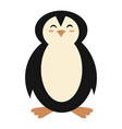 cartoon penguin a cute vector image