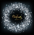 christmas background with silver sparkles with vector image vector image