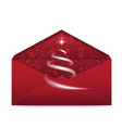 christmas envelope with star and blizzard vector image