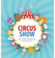 Circus logo design template festival or vector image