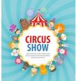 circus logo design template festival vector image vector image