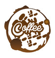 coffee beans badge sticker vector image