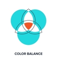 color balance vector image