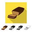 design bread and banana logo set