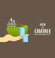 environment day banner green earth landscape vector image vector image