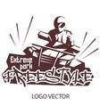 extreme park logo concept atv quad bike freestyle vector image