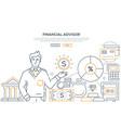 financial advisor - modern line design style web vector image