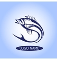 Fish Logo or icon hook silhouette design vector image vector image