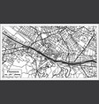 florence italy city map in retro style outline map vector image