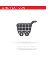 food cart icon for web business finance and vector image vector image