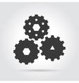 Gear simple icon vector image vector image