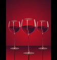 glasses red wine vector image vector image