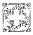 gothic tracery gothic architecture vintage vector image