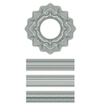 Guilloche element for design certificate vector image