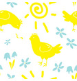 hand drawn seamless pattern for easter design vector image vector image