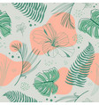 hand drawn seamless tropical pattern with vector image