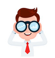 happy funny young smiling businessman t vector image vector image