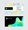 holographic hologram business card foil vector image