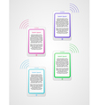 infographics with phones vector image vector image