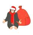 Isolated Christmas Monkey vector image