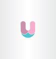logo letter u symbol design vector image vector image