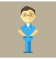 Male Nurse with Stethoscope vector image